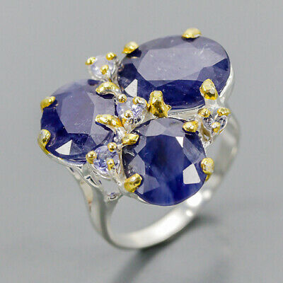 £15.57 • Buy Vintage Blue Sapphire Ring Silver 925 Sterling  Size 7.5 /R157361