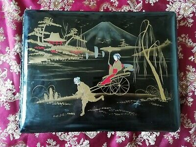 £45 • Buy Japanese Laquer Hand Painted Cabinet/Cdv Photo Album.