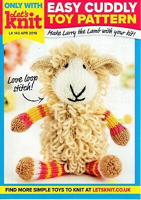 £1.90 • Buy ~ Toy Knitting Pattern For Adorable Cuddly Lamb ~ 10.75 Inches Tall (27cm) ~