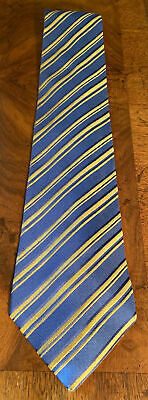 £84.95 • Buy CHARVET Blue Yellow Striped Silk Tie Made In France                       P13144