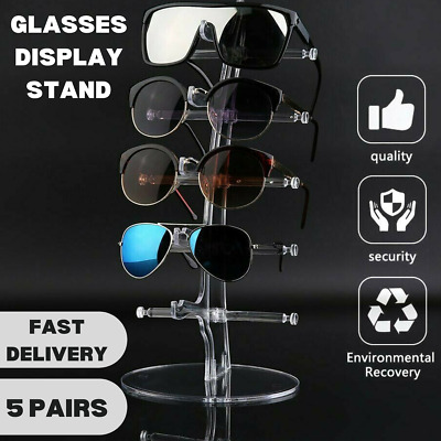 AU11.99 • Buy Sunglasses Glasses Display Stand 5 Pair Rack Show  Holder Plastic Counter