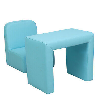 £19.99 • Buy Kids Activity Table Chair Set Mini Sofa Padded Blue 3-in-1 Toddler Armchair Boys