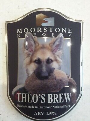 £0.99 • Buy Beer/ale Pump Clip Thick Resin Coated Curved Plastic Of A German Shepherd Dog