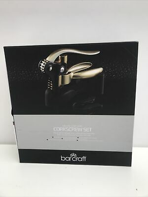 £19.99 • Buy BarCraft Deluxe Lever-Arm Corkscrew Set Brand New Boxed