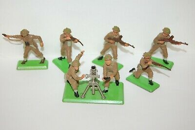 £14.99 • Buy Vintage Britains Deetail British Infantry Soldiers And Mortar Crew