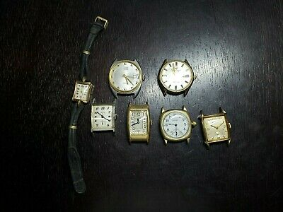 $ CDN2.73 • Buy Lot Of Seven Wrist Watches 1 Ladies And 6 Men's, Multiple Name Brands