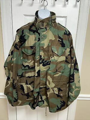 $49.99 • Buy US Military M-65 Field Jacket Woodland Camouflage Cold Weather Size XL/R