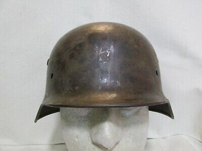 $9.99 • Buy WWII Germany German M35 Helmet Shell W Normandy Camouflage Paint