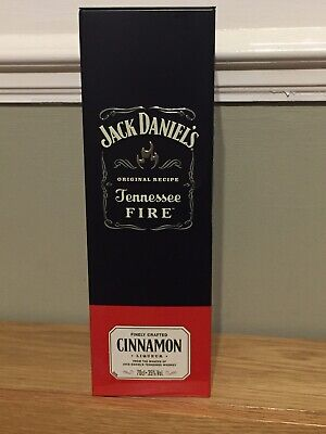 £8.99 • Buy Jack Daniels Tennessee Fire Metallic Bottle Tin Collectible
