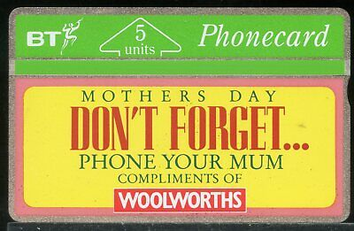 £0.20 • Buy #423 BT Phonecard Advertising Mothers Day