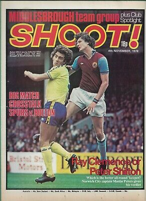 £2.75 • Buy SHOOT! - 4th November 1978 - Middlesbrough, Derby County, Liverpool