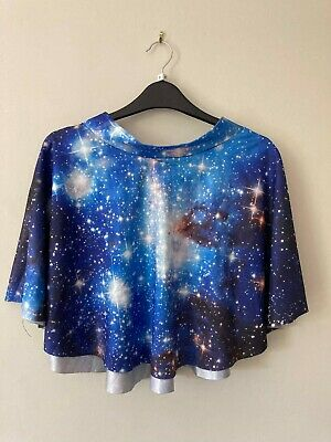 £1.10 • Buy Galaxy Print Skater Skirt, Space Skirt, Stretchy Waist, Never Worn, Quirky