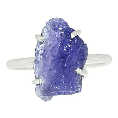 £7.08 • Buy Tanzanite Crystal - Tanzania 925 Sterling Silver Ring Jewelry S.6.5 BR68201