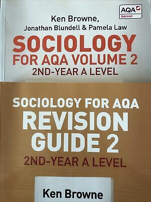 £12 • Buy Sociology For AQA Volume 2 With Revision Guide 2 2nd-year A Level Bundle