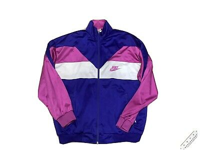 £15 • Buy 1990's Nike Classic Tracksuit Top Early 90's Track Top Jacket Beaverton Logo M