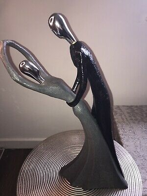 £24 • Buy Abstract Dancing Couple Sculpture Decorative Statue Home Decor Lovers Ornament