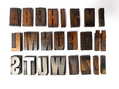 £20 • Buy Vintage Wooden Letterpress 85mm TYPE Grotesque Display Etrusca Font ?
