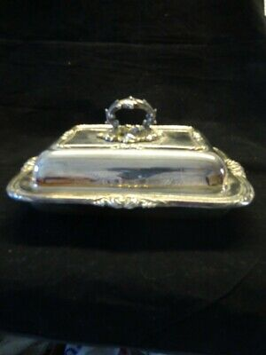 £10 • Buy Mappin & Webb 515N Ornate Silver Plated Lidded Serving Dish 12.5  X 9