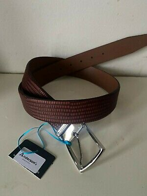 £40 • Buy Anderson's Patterned Calf Leather Belt Men NWT HamdMade In Italy 34UK / 85EU