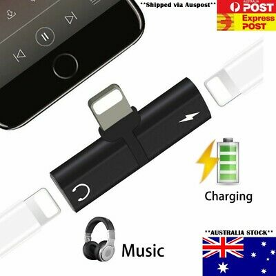 AU4.95 • Buy Dual Headphone Charger Splitter Adapter 2 In 1 IPhone 12 11 Pro Mini Max X XR 8