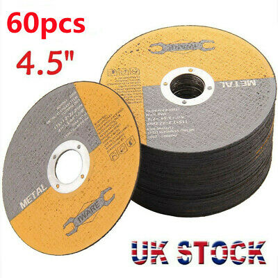 £12.99 • Buy 60x 4.5 115mm Metal Cutting Blade Disc Stainless Steel Angle Grinder Thin 1.2mm