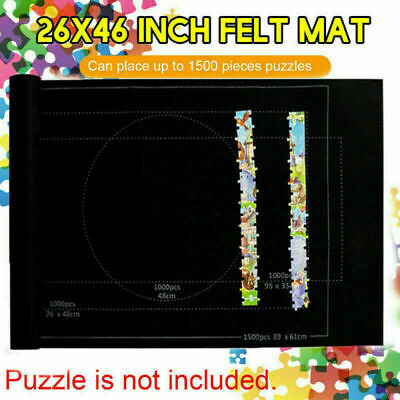 £8.45 • Buy Jigsaw Puzzle Storage Mat Roll Up Puzzle Felt Storage Pad Up To 1500 Pieces NEW