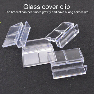 AU15.53 • Buy 10pcs Glass Cover Clip Home Support Holder Fish Tank Stand Clear Easy Install