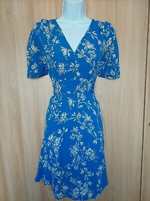 £5.95 • Buy Topshop Womens Blue Floral Fit&Flare Lightweight Dress Size 10 (12?)