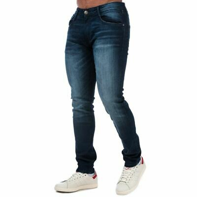 £23.94 • Buy Men's Duck And Cover Maylead Zip Fly Slim Fit Faded Detail Jeans In Blue