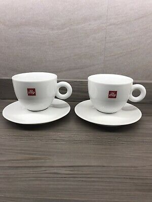 £14 • Buy Illy Large Cappuccino/Americano Cups 12oz - New, Unused X2 250ml.