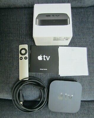 AU61.23 • Buy Apple Tv 3rd Gen A1469 + Remote + Power Cord Streaming Player Orig Box