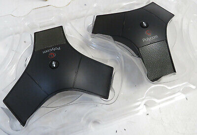 £40 • Buy 2 X Polycom IP 7000 SoundStation Extended Microphones - 2201-40040-001