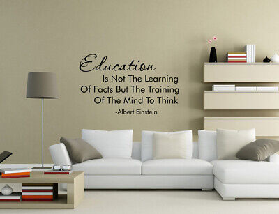 £4.80 • Buy Education Training Mind To Think Quotes Nursery School Wall Stickers UK 50GG