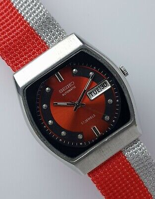 $ CDN36.53 • Buy SEIKO 5 Automatic Red Dial 21Jewels Classic  Day & Date Vintage Watch