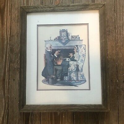 $ CDN42.63 • Buy Beautifully Framed Norman Rockwell Print Tea Time In A Driftwood Frame
