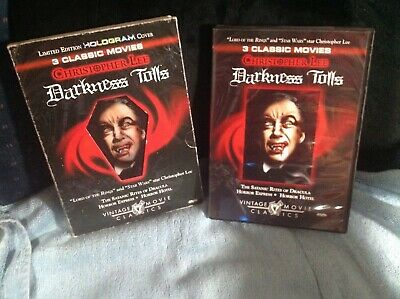 £4.89 • Buy Christopher Lee Triple Feature  Darkness Tolls  Tested Dvd Dracula,express,hotel