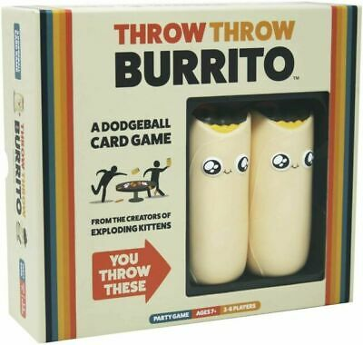 AU13.36 • Buy Exploding Kittens Throw Throw Burrito A Dodgeball Card Game NEW SEALED