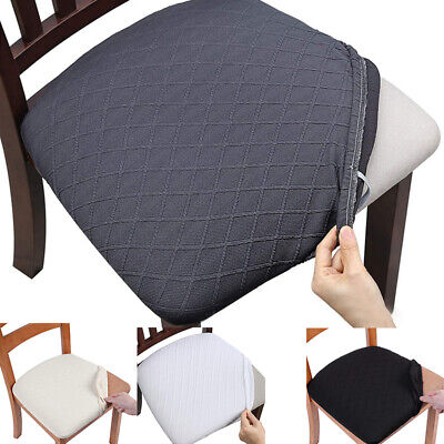AU7.29 • Buy Chair Seat Covers Stretch Dining Seat Cushion Slipcovers Protector Cover Decor