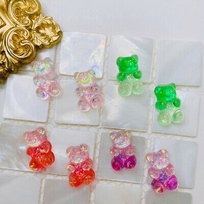 $ CDN1.87 • Buy 10Pcs Jelly Bear Colorful Headwear Girls Candy Color Hairpin Resin Accessor P3