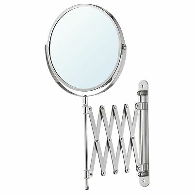£9.80 • Buy IKEA FRACK Extendable Stainless Steel Wall Round Shave Mirror + Magnifying Glass