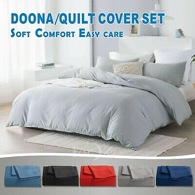 AU19.99 • Buy ForZzz Quilt Duvet Doona Cover Set King Single/D/Queen/King/Super King Size Bed