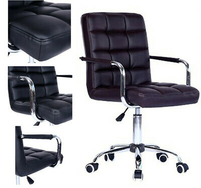 AU89.98 • Buy Computer Desk Chair Office Executive Task Chairs PU Swivel Chair With Wheels