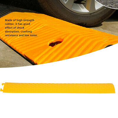 £30.99 • Buy 3pcs Yellow Cable Protector Ramp Speed Bumps Rubber Floor Wire Road Cover Device