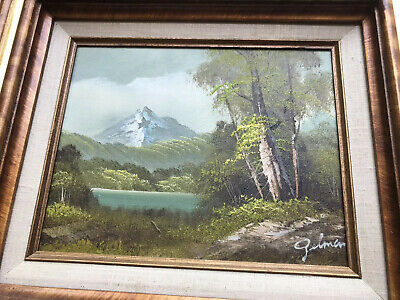 £29.99 • Buy Vintage Hand Painted Signed Landscape Painting