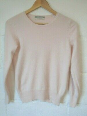 £3.20 • Buy M&S Woman Pink Cashmere Cropped Jumper Size 10