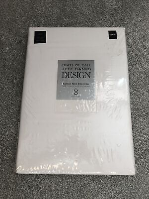 £5 • Buy Jeff Banks Cotton Rich King Size Fitted Sheet
