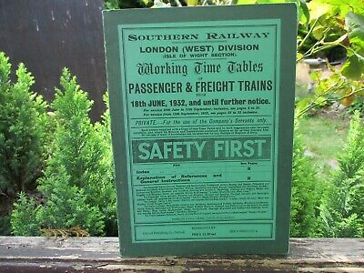 £4.99 • Buy *REPRINT, Southern Railway, Isle Of Wight Timetable, 18th June 1932 *REPRINT