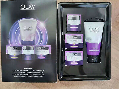 £25.90 • Buy Olay Anti-Wrinkle Firm & Lift Gift Set - 4 Piece Day &night Yea Cream And Face