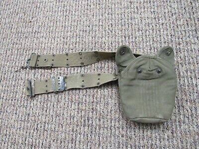 $9.99 • Buy WWII US Army M-1936 Khaki Suspenders With Canteen Cover And Chain