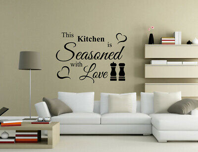 £4.80 • Buy This Kitchen Is Seasoned With Love Chess Wall Quotes Art Wall Stickers UK 50Y